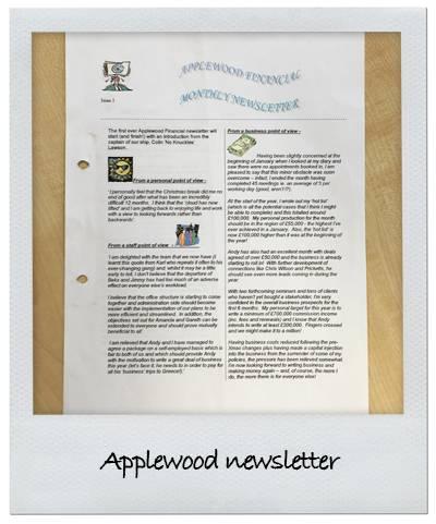 Applewood newsletter